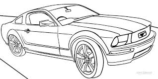 Small Picture Printable Mustang Coloring Pages For Kids Cool2bKids Car