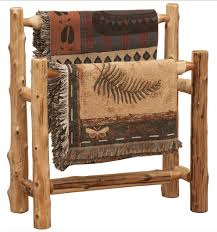 Cedar Log Double Quilt Rack | Cabin decor | Pinterest | Logs, Log ... & Cedar Log Double Quilt Rack Adamdwight.com