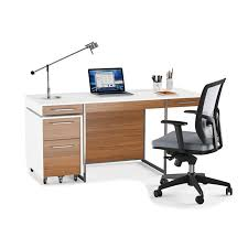 white walnut office furniture. The Format Contemporary Desk By BDI In Satin White Walnut With Mobile File Pedestal And Task Office Furniture C