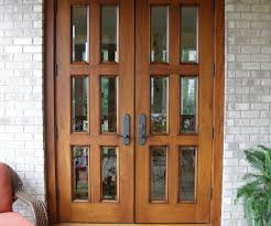 Mind Walnut Finish Clear Beveled Glass Exterior Door Also ...