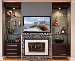 image of elegant modern fireplace screens glass