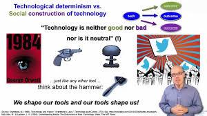 Technological Determinism Dt Sc 1 4 Technological Determinism Vs Social Constructivism