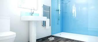 shower wall board modern bathroom with a b building s ltd inside glass panel