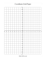 Plane Printable Coordinate Grid Paper Large A Integers Worksheet Pin