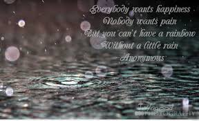 rain image with a wonderful quote