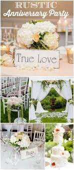 Wedding Anniversary Party Ideas How Gorgeous Is This Rustic Anniversary Party See More