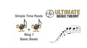 Music theory note and rest values for 3/8 and 6/8 10 terms. Simple Time Rests Blog 1 Basic Beat Ultimate Music Theory