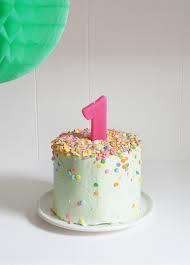 banana baby birthday smash cake