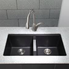 White Granite Kitchen Sink Kraus Kgu 434b Universal Black Onyx Undermount Double Bowl Kitchen