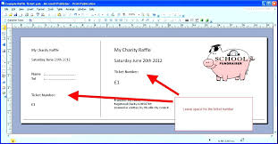 Microsoft Word Ticket Templates Unique Raffle Ticket Template Excel Unique Printable Numbered Tickets On