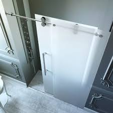 frosted sliding shower doors. Frameless Frosted Shower Door 3 8 In Glass Sliding . Doors