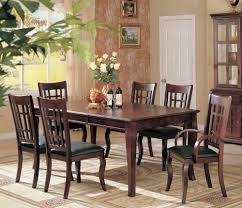 7pc formal dining table chairs set rich cherry finish