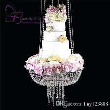 chandelier cake crystal beaded chandelier cake stand luxury hanging cake rack wedding cake stand swing hanging
