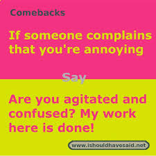 Check spelling or type a new query. When People Call You Annoying Shut Them Up With One Of Our Clever Comebacks Check Out Our Top T Funny Insults And Comebacks Funny Comebacks Sarcasm Comebacks