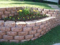 Small Picture Cheap Simple Back Yard Retaining Wall And Garden Steps Design With