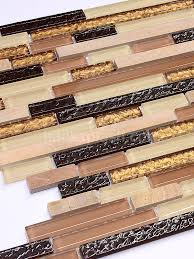 beige brown gold glass marble backsplasht tile