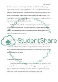 workplace diversity research paper example topics and well  workplace diversity essay example