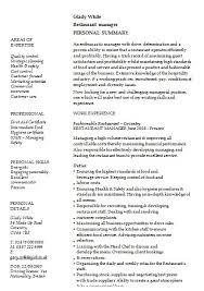 Resume Restaurant Manager Restaurant Manager Resume Clamper Pod Designer