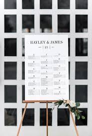 Modern Wedding Seating Chart Framed Wedding Seating Chart