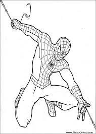 Disegni Per Dipingere Colour Spiderman Stampare Realizzazione 018