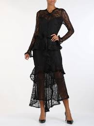 Guess By Marciano Size Chart Lace Long Dress With Applied Frills Di Marciano Guess Long