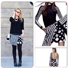 Peter Pilotto Black White Skirt Size 6 8 Boutique