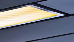image of fluorescent light fixture diffuser