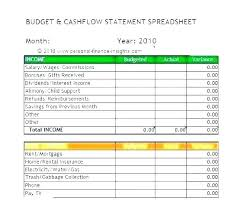 Monthly Profit And Loss Statement Excel Monthly Income Statement Template Budgeted Month