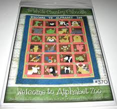 Animal Quilt Patterns Mesmerizing Welcome To Alphabet Zoo Applique Animal Quilt Pattern Alligator