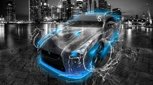 nissan gtr r35 water city car