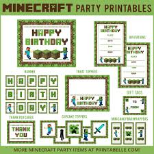 Search Results For Minecraft Printable Party Games And More