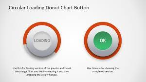Circular Donut Chart Button For Powerpoint
