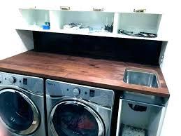 countertop washer dryer washer under build countertop over washer dryer