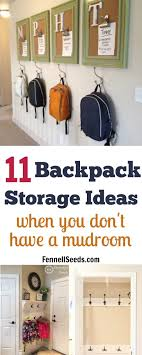 Kids Coat Rack With Storage 100 Backpack Storage Ideas When You Don't Have A Mudroom Backpack 89