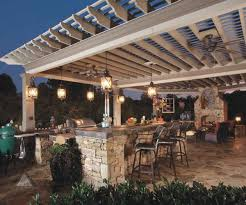 outdoor kitchen lighting ideas. Lighting Ideas For Outdoor Kitchens Using Wrought Iron Lantern Alongside Oil Rubbed Bronze Fan On White Kitchen O