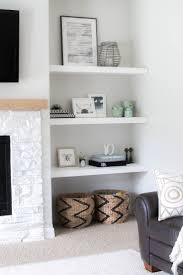 styling our new floating shelves gorgeous fireplace and built in makeover mandy such favorite blogger designs diys shelves