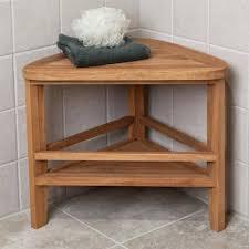 corner teak shower bench furniture amazing bathroom furniture triangle corner teak shower bench stool with shelf