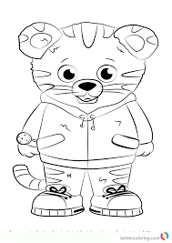Daniel Tiger From Daniel Tiger Coloring Pages Free Printable