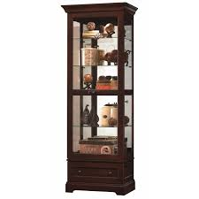 Glass Curio Cabinets With Lights Amusing Cherry Corner Curio Cabinet To Increase The Value Of Your