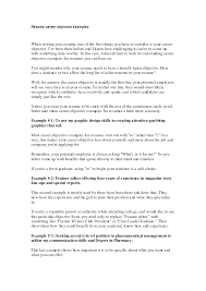 Cover Letter Professional Objectives For Resumes Sample Objectives