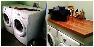 easy laundry room diy countertop over washer dryer