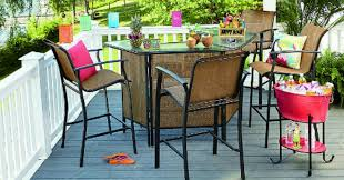 imagine relaxing in this patio bar set with your people kmart com has this garden fulton 5 piece patio bar set on for just 299 99 reg 499 99
