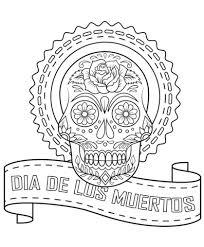 Small Picture Dia De Los Muertos Sugar Skull coloring page Free Printable