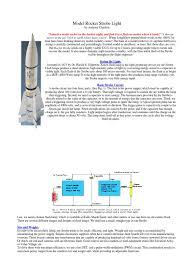 Model Rocket Strobe Light Flash Photography Capacitor