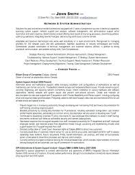 Linux Sample Resume For Experienced Admin Resume System