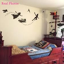 peter pan baby nursery wall decal vinyl stickers bedroom art mural kids sticker room decoration carto