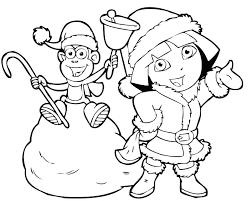 Dora Printables Coloring Explorer Coloring Pages The Explorer