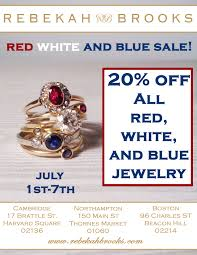 starting today through july 7th all red white and blue jewelry is 20 off a great way to beat this summer heat wave to e e the ac and a great deal