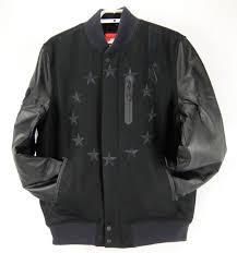 nike air mens destroyer 92 varsity jacket black wool leather 802644 new size xl