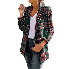 Sunward <b>Coat</b> for <b>Women</b>, <b>Women</b> Autumn and Winter <b>Plaid Long</b> ...